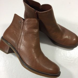 Rockport brown leather ankle boot women 9 new